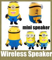 2 laptop - wireless speaker minion mini speaker cartoon speaker minion style with led light super bass music car laptop portable mini speaker MIS052