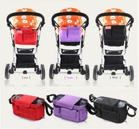 Wholesale Portable Travel Baby Diaper stroller car umbrella car mummy tommy nappy changing bag multifunctional Messenger bags