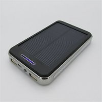 Wholesale 2015 Solar Charger Dual USB External Battery mAh Power Bank