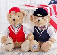 attendant gifts - Super lovely flight attendant teddy bear doll Creative wedding gifts on valentine s day gift Household decoration