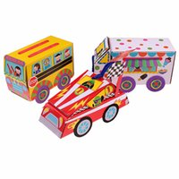 Wholesale Lin Fang gDIY bus racing package material supplies children preschool parenting manual tray car