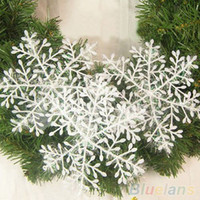Wholesale Hot White Snowflake Ornaments Christmas Holiday Festival Party Home Decor MSI