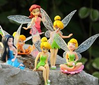 tinkerbell - Cute boneca cm Tinkerbell dolls Fairy Adorable tinker bell Mini toy flower pretty doll Action Figure brinquedo set