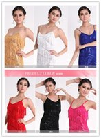 Wholesale New Night Latin Dance Dress Sexy Pole Dance Costumes Fringed Sequined Stage Dancewear Show clothing A0158