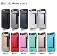 id cards - 2016 Verus DAMDA CLIP case Hybrid TPU PC Dual Layer Wallet ID Cover With Card slot For iphone S plus se s S5 S6 edge plus note5