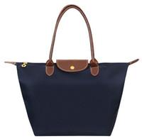 colorful handbags - Long Handle Women Tote Shopping Bag Nylon WaterProof Colorful Foldable Handbag