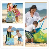 Wholesale Amazing Hew Sand Away Carry Beach Mesh Bag for Chidren Swim Beach Toys Clothes Towel Bag Baby Toy Collection free DHL JF B5