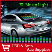 automobile sounds - 90 cm LED Sound Activated EL Sheet Car Music Sticker Equalizer Glow Flash Panel Multi Colour Light Flashing Of the Automobile