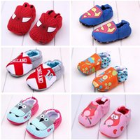 Wholesale 2015 New Baby First Walker Shoes Spiderman Toddler shoes Soft Bottom Shoes Infant Booties shoes Baby Prewalker shoes LJJD2317 pairs