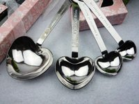 Wholesale Delicate sets Heart Shaped Measuring Spoons set Wedding Favors LOVE New set for each gift