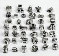 Wholesale OMH of Mixed Tibet Silver Plated Charms Beads Spacer Stopper Fit European Bracelet necklace DIY BEADS ZL203