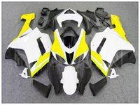 aprilia race fairings - For Kawasaki ZX636 white yellow Fairings ZX6R Bodywork Set ZX R Racing Fairing
