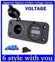 Wholesale Top Sale V Charger Plug Motorbike Motorcycle Car Cigarette Lighter Socket Power Outlet Plug And Voltmeter Socket original