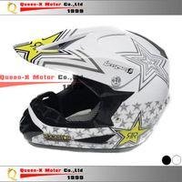 Wholesale Motocross Kids Racing Helmet Rock Star Helmet White Black S M L XL Off Road Motorcycle Helmet order lt no track