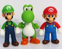Wholesale set Super Mario Bros Luigi Mario Yoshi PVC Action Figures toy cm Z1125
