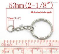 Wholesale Silver Tone DIY Key Chains Key Rings Keychains mm quot length B19405 seasons