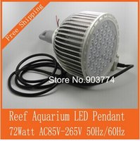 Wholesale 2015 Real Greenhouse Box Led Light Dimmable Pr72 w Reef Aquarium Pendant w Light high Quality Meanwell Driver