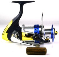Cheap New High quality Free shipping Fishing Reels Okuma Spinning Reel MSLII-55 6BB+1RB Fishing Tackle Front Drag Spinning Wheel
