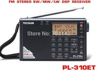 Wholesale TECSUN PL ET FM STEREO AM MW SW LW DSP Receiver WORLD BAND Shortwave RADIO Digital Demodulation Stereo Radio Easy Tuning Mode