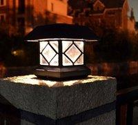 aire order - 2X Outdoor Led light Waterproof Solar post lights Luminaires Exterieurs Novelty garden light led de luz solar al aire libre order lt no trac
