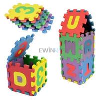 alphabet foam puzzle - Hot Selling set Alphabet Letters Numeral Foam Mat Mini Puzzle Kid Educational Toy SETS