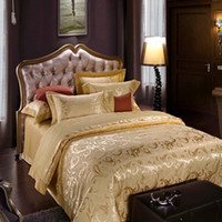 Knitted silk bedding - Hot New Bedding Sets Luxury Silk Jacquard Duvet Cover Bedspread Pillowcase For Queen King Size