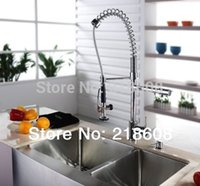 Wholesale Hot Kitchen Faucet Pull Out Two Spray Single Handle Brass Kitchen Tap Mixer Torneira Cozinha