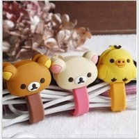 Wholesale Cartoon animals Cute cable tie cable winder coiling line12pcs