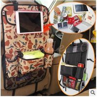 Wholesale 10pcs LJJC2867 Multi Camouflage Back Seat Pocket Organizer Bag Car Storage Pocket Backseat Hanging Storage Bags Waterproof Car Organizer