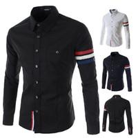 Wholesale High Quality Stylish Casual Shirt Double Collar Striped Mens Dress Shirts Mens Long Sleeve Shirts
