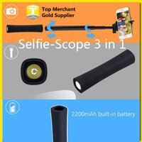 bank sticks - 3 in kit set Monopod Selfie Scope Stick Bluetooth Handheld with Power Bank and Handy LED Torch in grip supports IOS Android