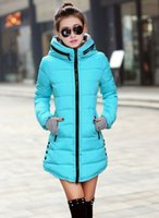 Wholesale Women s cotton padded jacket Hew winter medium long down cotton plus size jacket female slim ladies jackets and coats