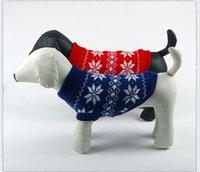 achat en gros de pull noël pas cher-Noël vêtements pour chiens pull vêtements pour animaux domestiques chien automne hiver animaux bon marché teckels chats pitbull Livraison gratuite