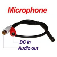 audio monitoring microphone - cctv Mic Microphone Sound Monitor audio voice pick up device for security Surveillance RCA