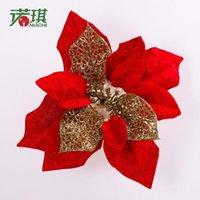 Cheap Nuoqi 20cm red velvet violet diamond silver Christmas tree decorations artificial flowers flower pendant 10g