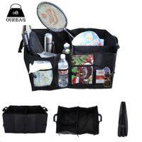 Wholesale Car Auto Accessory Bag Multipurpose Waterproof Boot Trunk Black Foldable Storage Box Organizer Portable Large Capacity Bags