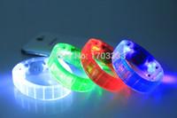 Nouveau contrôle vocal activé par la voix Led Bracelet clignotant Bracelet Bracelet pour Night Club Activité Party Bar Disco 200pcs / lot
