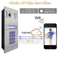 Wholesale Wireless Wifi IP Video door intercom Camera Doorbell SmartPhone Remote Control IP Smart Doorbell via ISO Andrio system Tablets