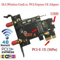 Wholesale SMAKN M NGFF Wireless Card to PCI e X Adapter