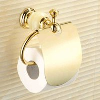 Wholesale bathroom Bath paper holder with gold color finishing brand new Toilet Paper Holders