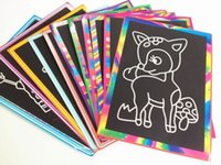 scratch card - Melissa Doug Rainbow mini Scratch Art Notes Magic Color Scratch Art Paper Scraping Picture Card Scratching Painting children drawing toys