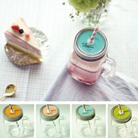 Wholesale 4 Glass mason jars Vintage Water bottle drinkware Zakka gift Mugs and cups Party supplies Novelty households