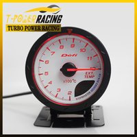 Wholesale Gas Temp guage MM DEFI CR Exhaust Gas Temp guage White Face with Red White Lighting auto meter auto gauge tachometer car meter