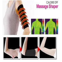 Wholesale 2pairs Arm Massage Fat Buster Calorie Off Arm Shapewear Slimming Shaper Belt Wrist Strap Arms Body Massager with Retail Package
