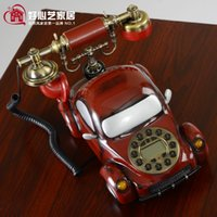 antique electric cars - Freeshipping Fashion hot selling phone antique red car phone home gifts fashion electric