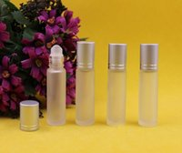 oil bottles - 2015 Glass Roll On ml empty Fragrance Perfume essential Oil Refillable Bottles Walk bead glass Refillable Bottles