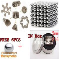 buckyballs - 216PCS mm Silver neodymium Sphere Magnet Magnetic Bucky Balls Buckyballs Puzzle Cube Toy BOX