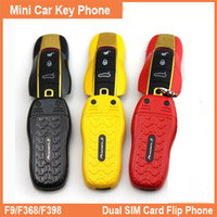 Wholesale Multi language support F9 F389 mini car key Cell Phone mobile phones Luxury Fashion Dual Sim mini Flip Car phone Small Phone