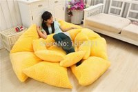 Cheap brand new 2015 High quality 150cm Cute Giant Flower Shape Tatami Bed Carpet Sofa, 4 Colors bcgf no9