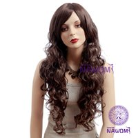 Cheap NAWOMI Long Brown Wigs for Women Hair Weaves Sexy european Hair Wigs Heat Resistant Wigs Shops cheap Wig Online A0010